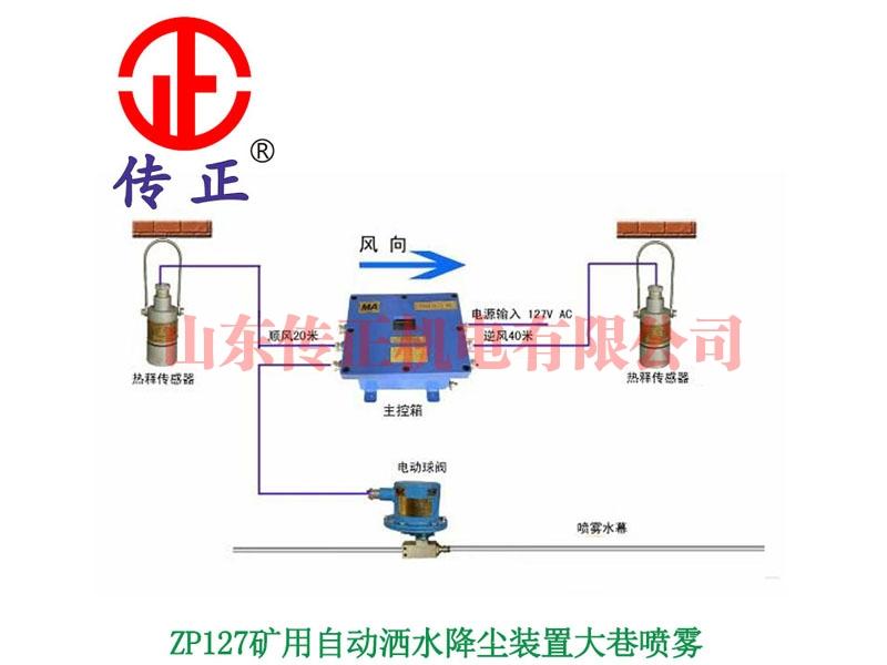 ZP127矿用自动洒水降尘装置大巷喷雾
